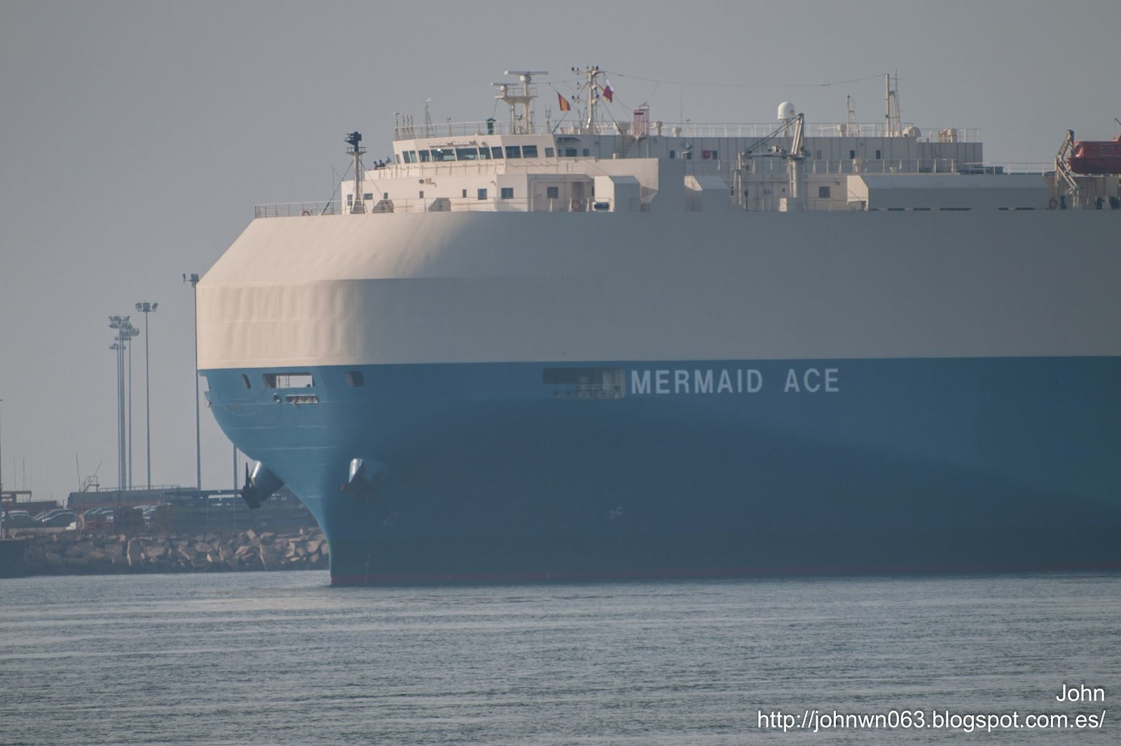 mermaid ace, ro-ro, fotos de barcos, vehicles carrier, bouzas