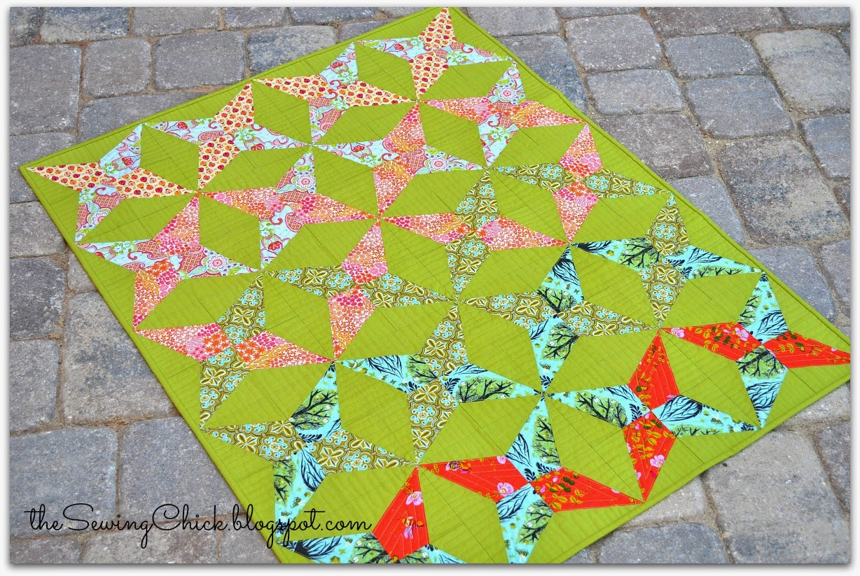 modern handcrafted baby quilt by tessa marie walker