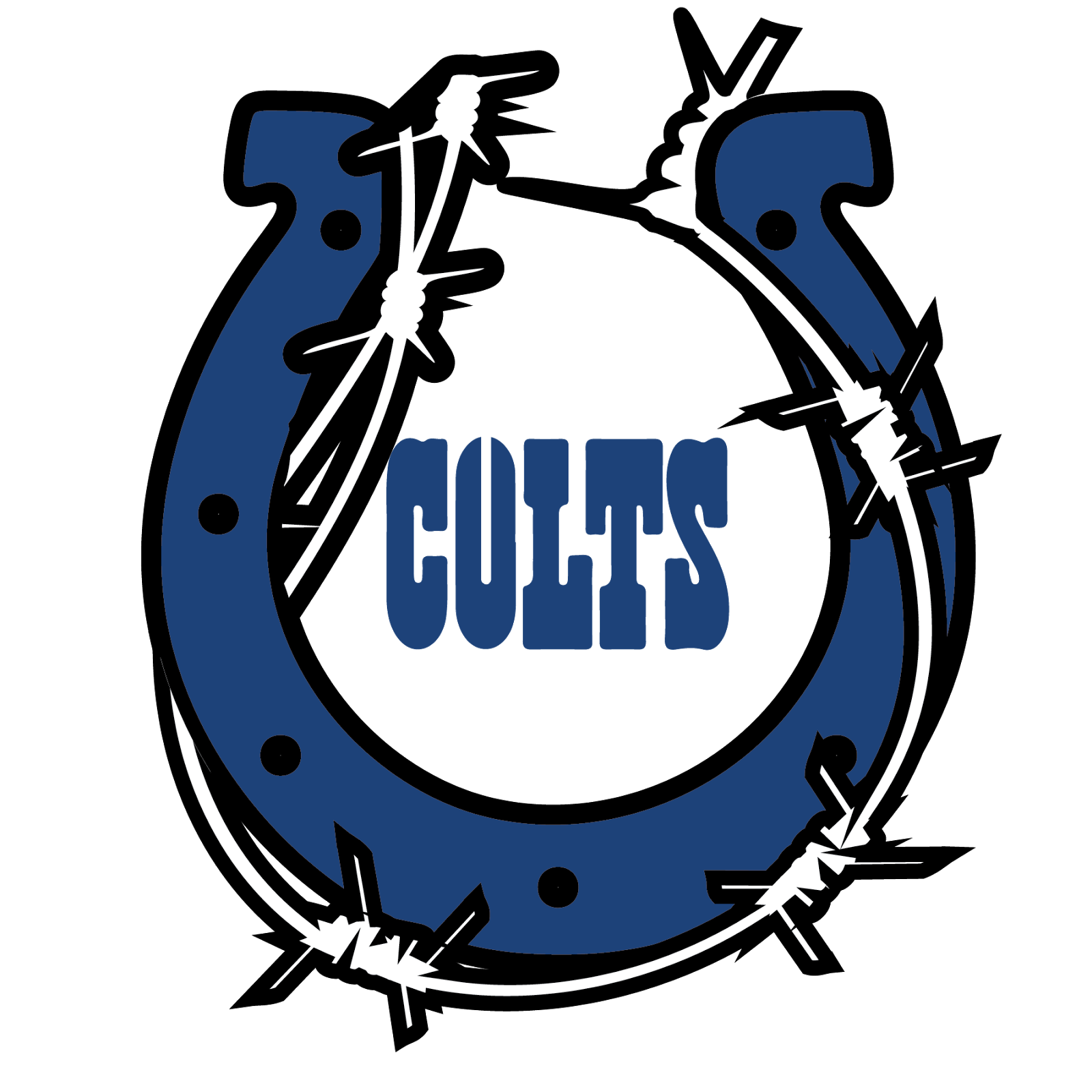 Indianapolis Colts, metal, logo, re-imagined