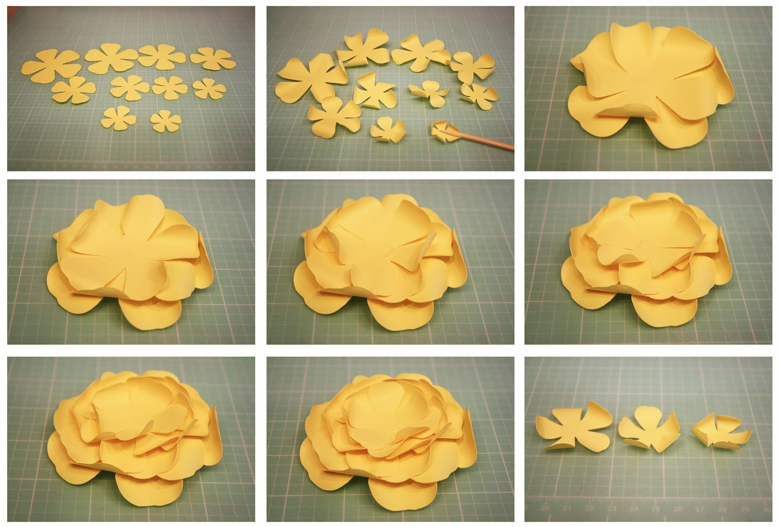 Bits Of Paper 3d Double Impatiens Double Bloom Cosmo Paper Flowers
