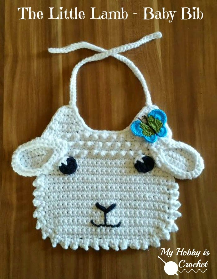 My Hobby Is Crochet Little Lamb Crochet Baby Bib Free Crochet