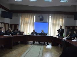 Zilele UAIC, 26.10.2012 - aspect din timpul comunicării Prof. univ.  dr. Gh. Plade, Univ. Chişinău
