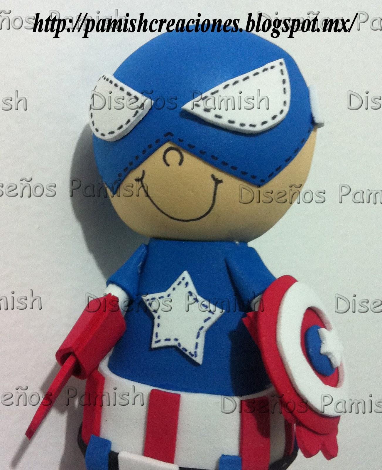 Centro De Mesa Capitán América: Videos De Como Hacer Un Arreglo Del Capitan America De