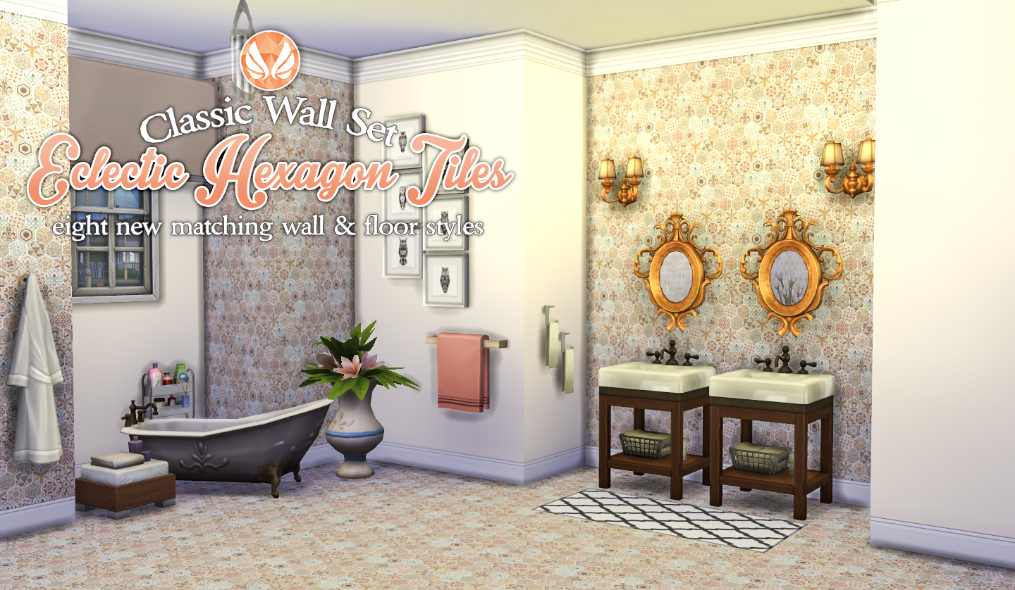 Simsational Designs: Classic Wall Set - Eclectic Hexagon Tile ...
