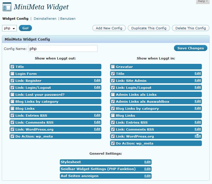 MiniMeta Widget