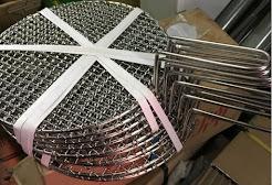 Vỉ nướng inox tròn có tay cầm 29.5cm