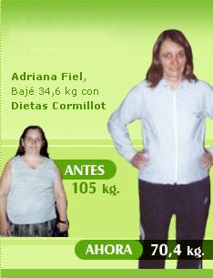 bajar 34 kilos 105 kilos 74 kilos dieta cormillot resultados