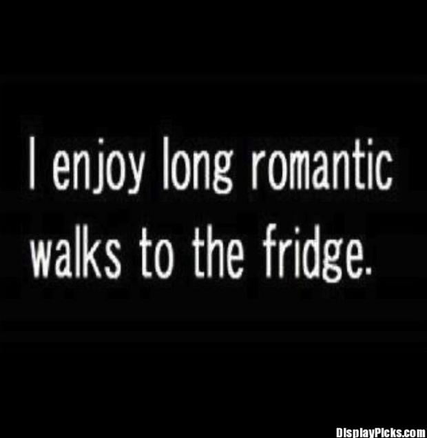 romantic walks funny quotes