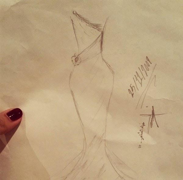 بالصورة أسيل عمران تكشف عن موهبة تصميم الأزياء,  أخبار أسيل عمران, صور أسيل عمران,