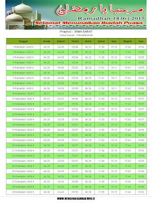 Jadwal Imsakiyah Pangandaran Tahun 2015 (1436 H)