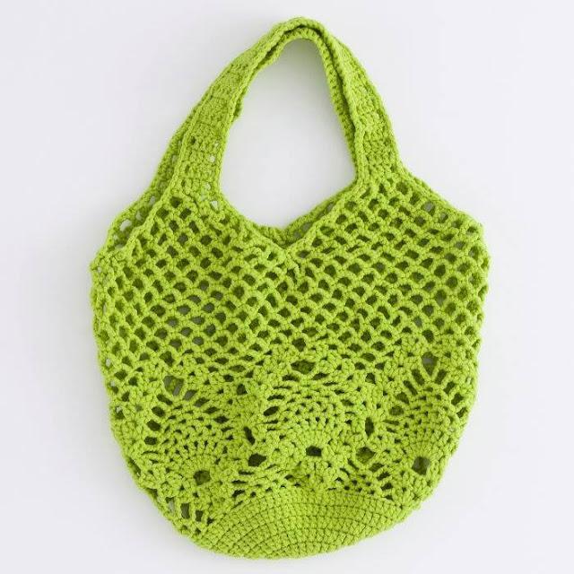 Bolso Verde a Crochet
