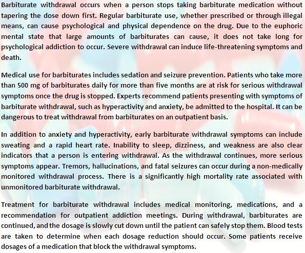 Barbiturate withdrawal