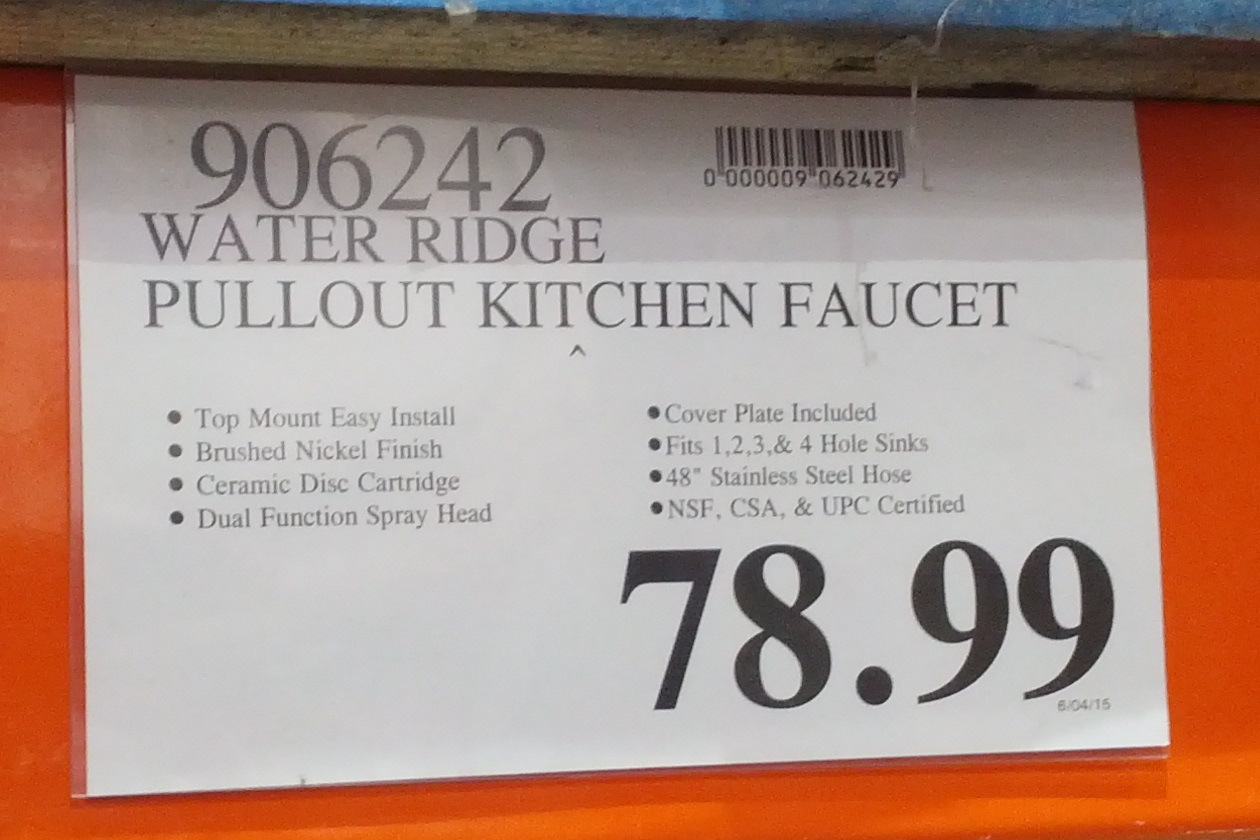 waterridge pull out kitchen faucet costco costco kitchen faucet Deal for the WaterRidge Pull out Kitchen Faucet at Costco