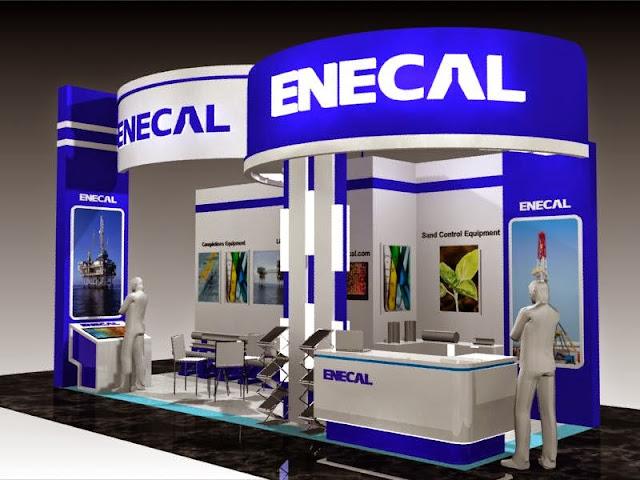 ENECAL stand booth design kontrakror pameran