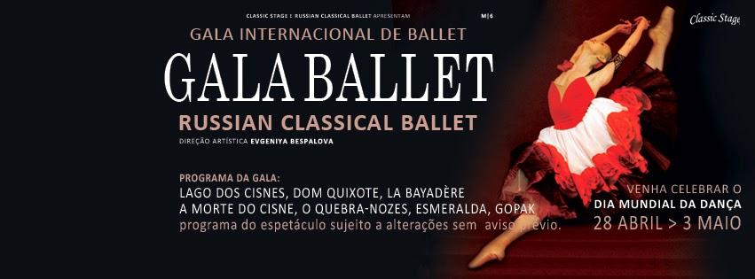 Cartaz da Gala Internacional de Ballet da Russian Classical Ballet