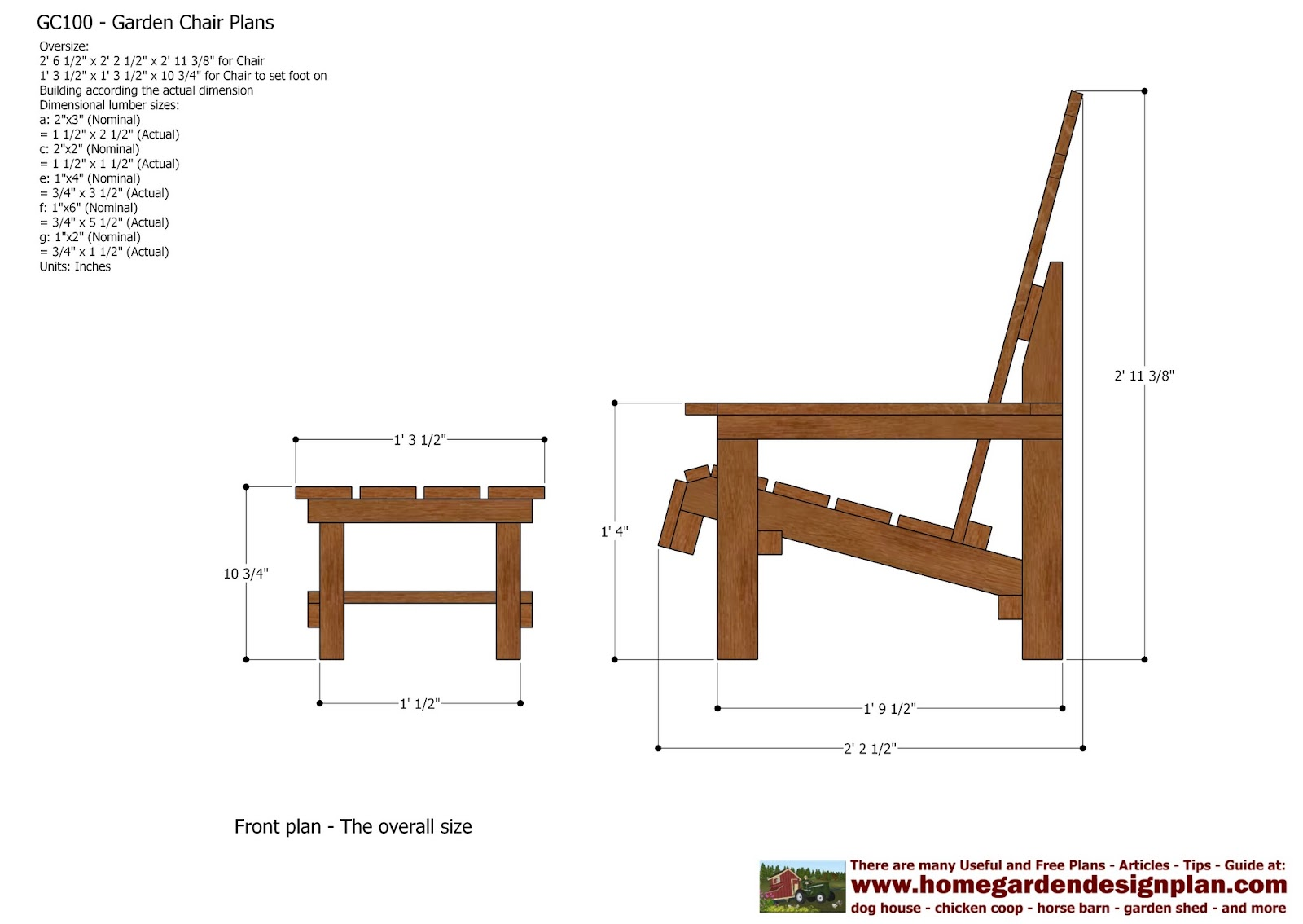 Woodwork garden chair plans pdf plans for Free outdoor furniture plans pdf