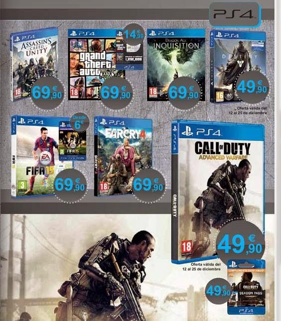 Videojuegos PS4 El Corte Ingles 2014-15