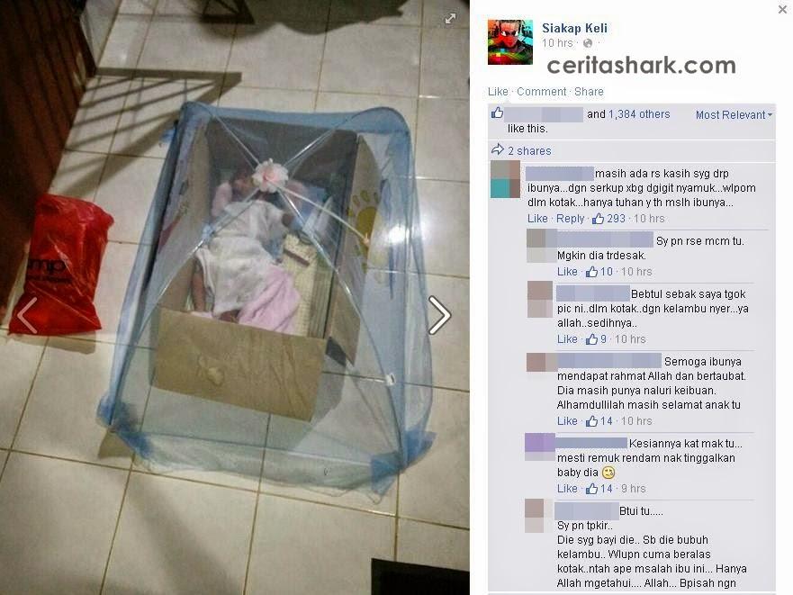 Bayi Dibuang Di Depan Rumah