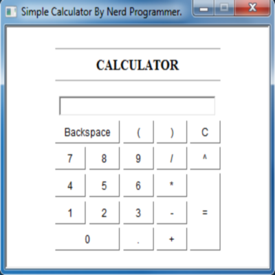 Simple Calculator By Nerd Programmer