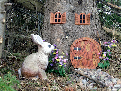 The Gnome House and its Guard Rabbit.