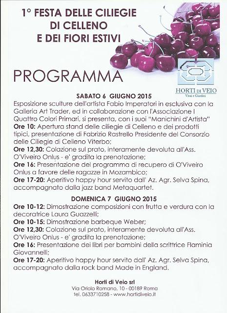 Programma Horti di Veio 2015