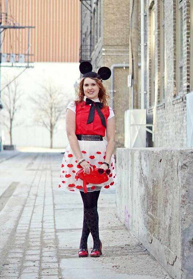 Style blogger, Winnipeg Style, minnie mouse look