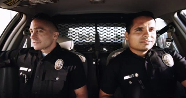 Gyllenhaal and Pena in End of Watch