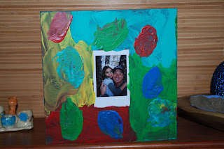 Handmade photo frame painted by six year-old