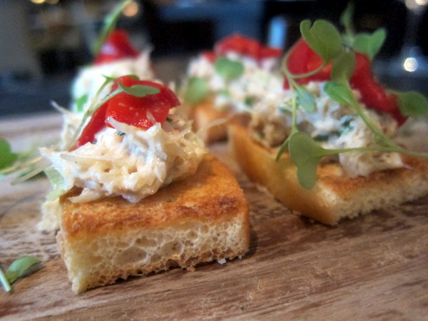 Crab Canapes at The Exchange Restaurant Dublin