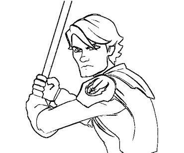 #5 Anakin Skywalker Coloring Page