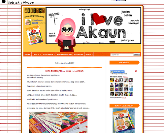 Tempahan : Full Edit & Design I Love Akaun