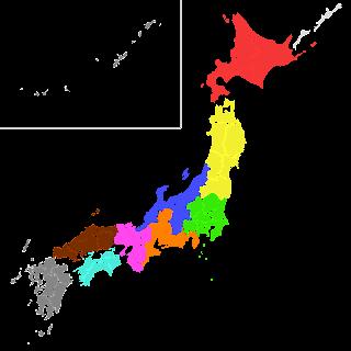 Peta Wilayah Japan Regional Leagues