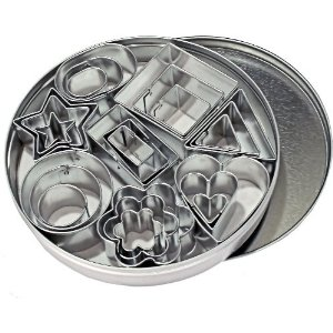 Tin of fondant cutters