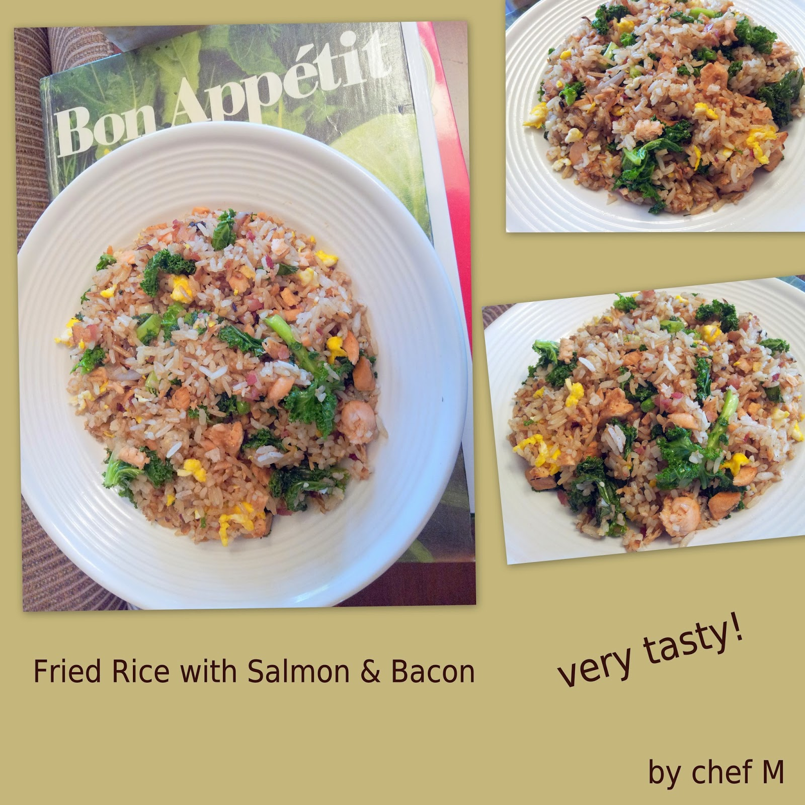 Bacon And Kale Fried Rice Recipe — Dishmaps