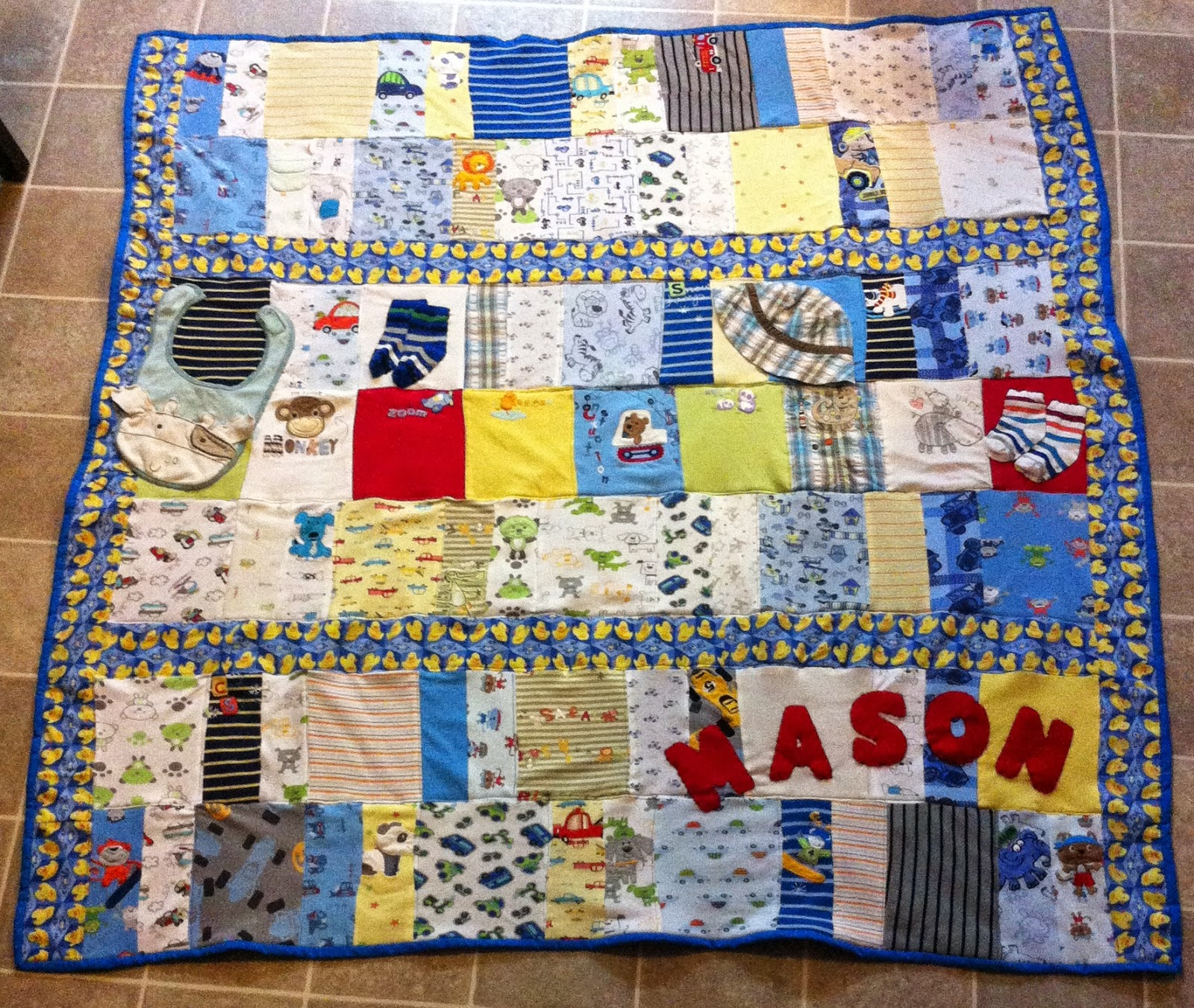 Live Laugh Giggle Handmade Memory Quilts