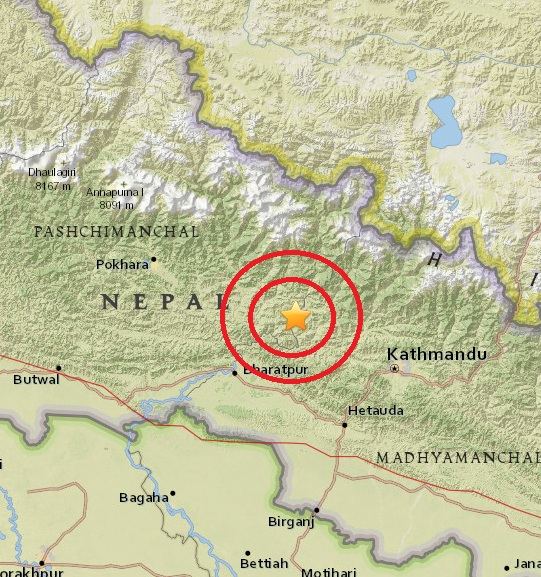 Magnitude 4.8 Earthquake of Bharatpur, Nepal 2015-05-29
