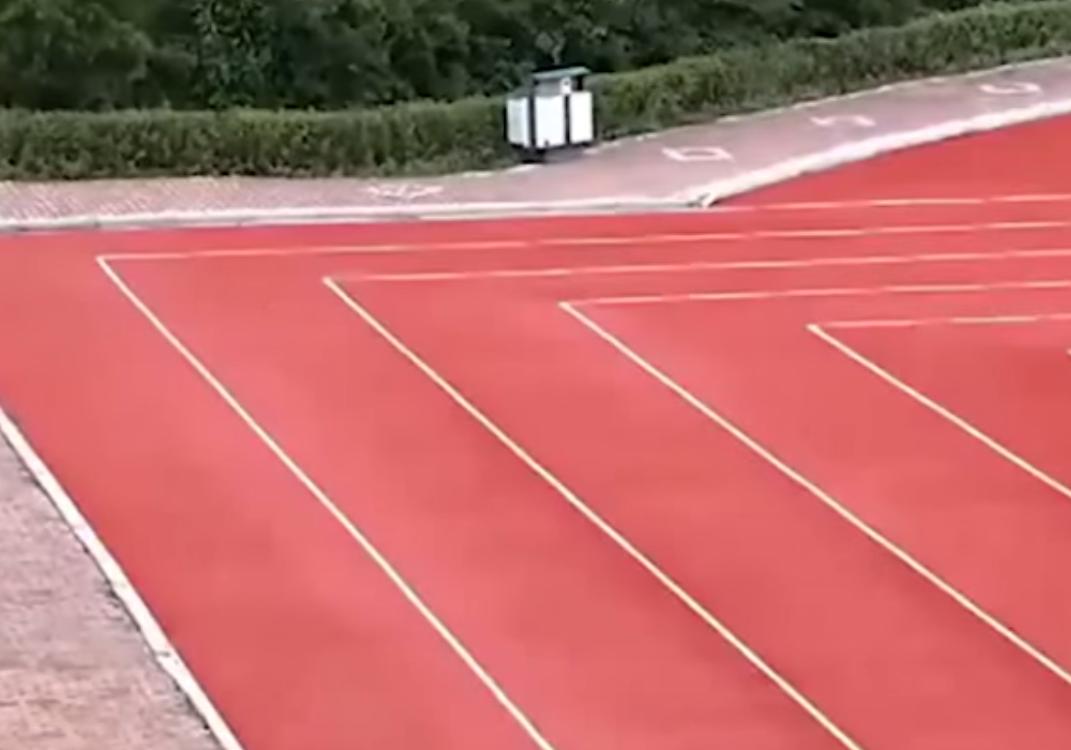 La pista da atletica rettangolare Cinese