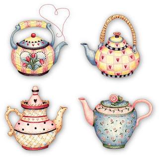 Papel para decoupagem bules e xícaras, chá e cozinha - Desenhos e ...