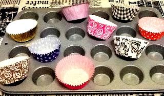 Bandeja Mini Cupcakes Cápsulas de Papel