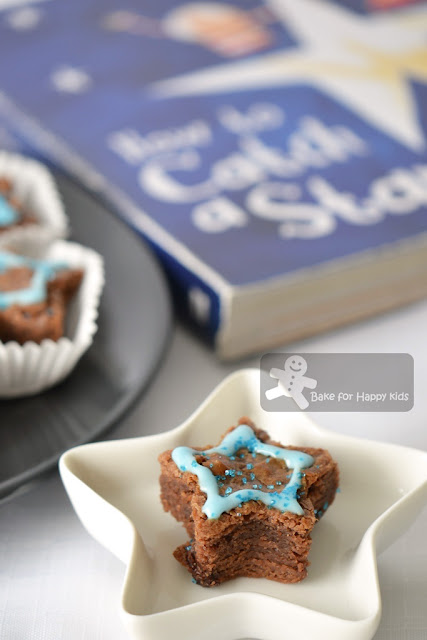 milky brownie stars condensed milk