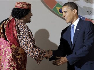 Obama Qaddafi 070909 Libya: Operation Unconstitutional Idiocy