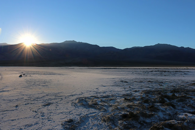 Sunset on Salt Flats