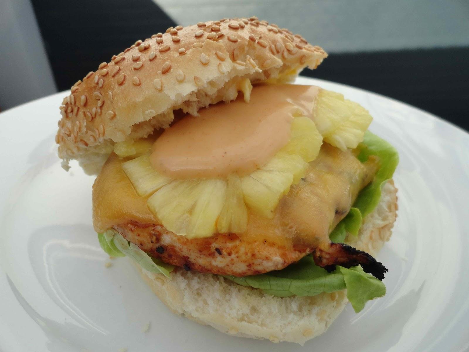 Hungry Hubby And Family: Hawaiian Chicken Burger