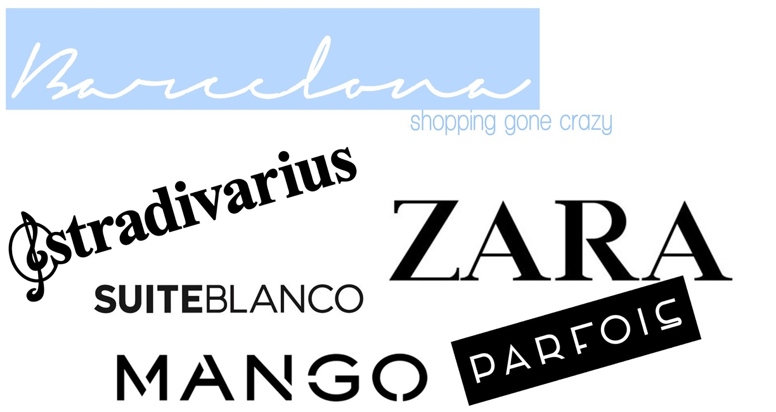 Barcelona shopping haul stradivarius zara suiteblanco mango parfois