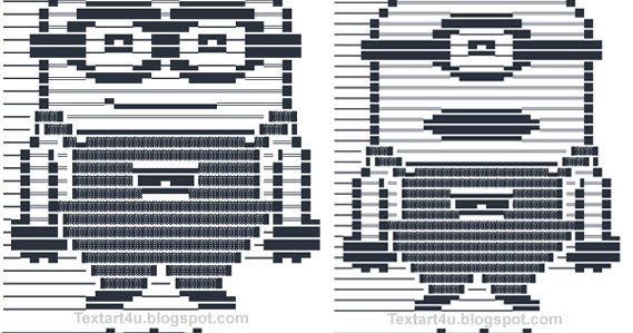 One Line Ascii Art For Texting : Minions emoticons text art for facebook cool ascii