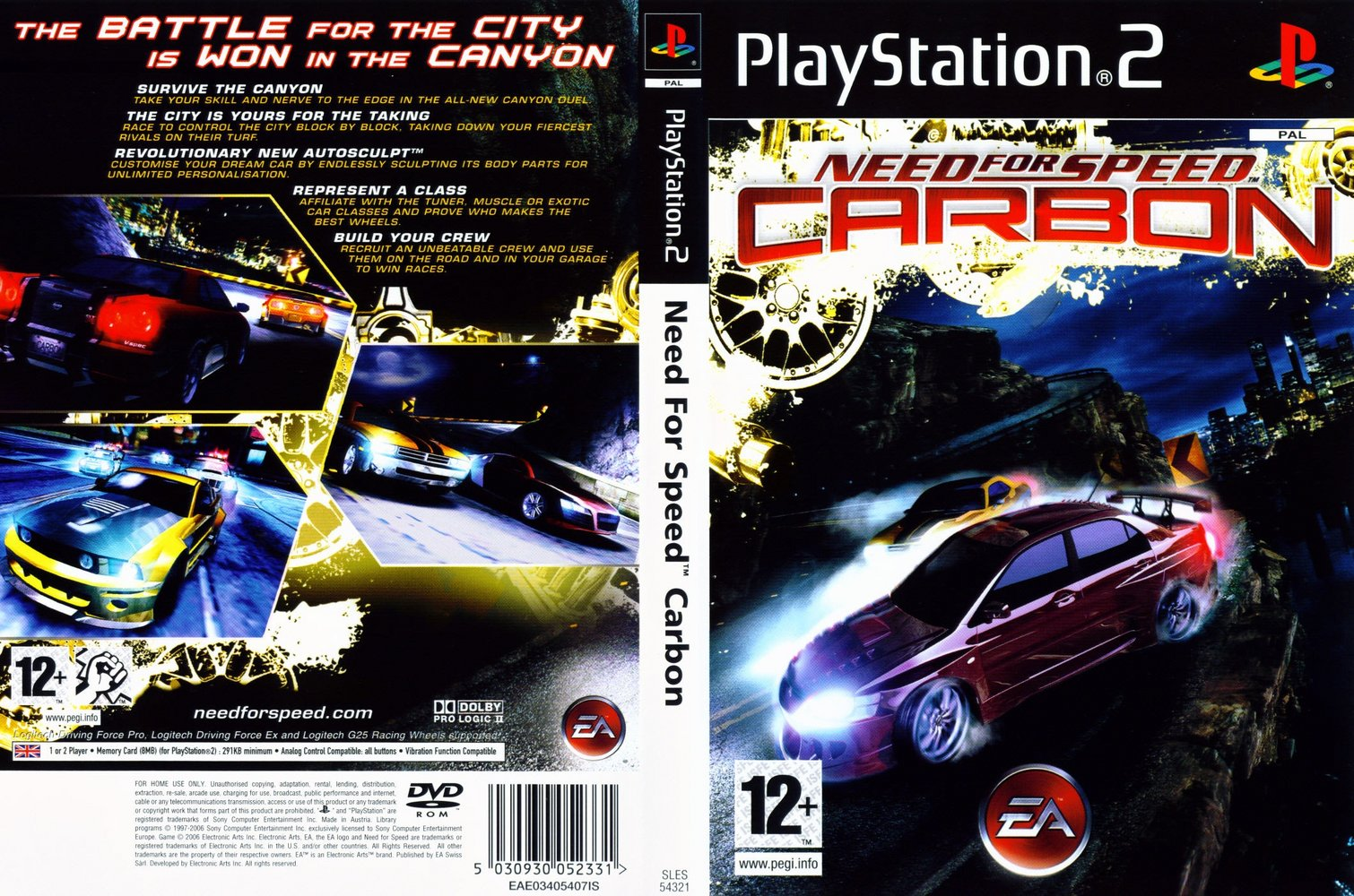 Need For Speed Carbon - Playstation 2 - Ultra Capas Ps2 Need For Speed
