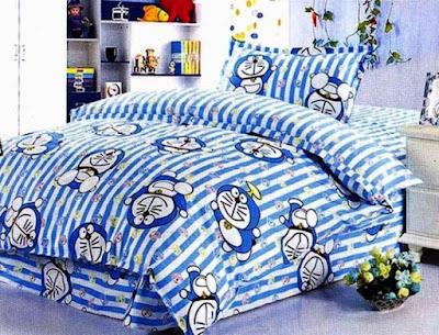 Contoh Desain Kamar Tidur Anak Motif Doraemon