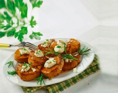 medaglioni di maiale con spinaci e pure´ di patate.