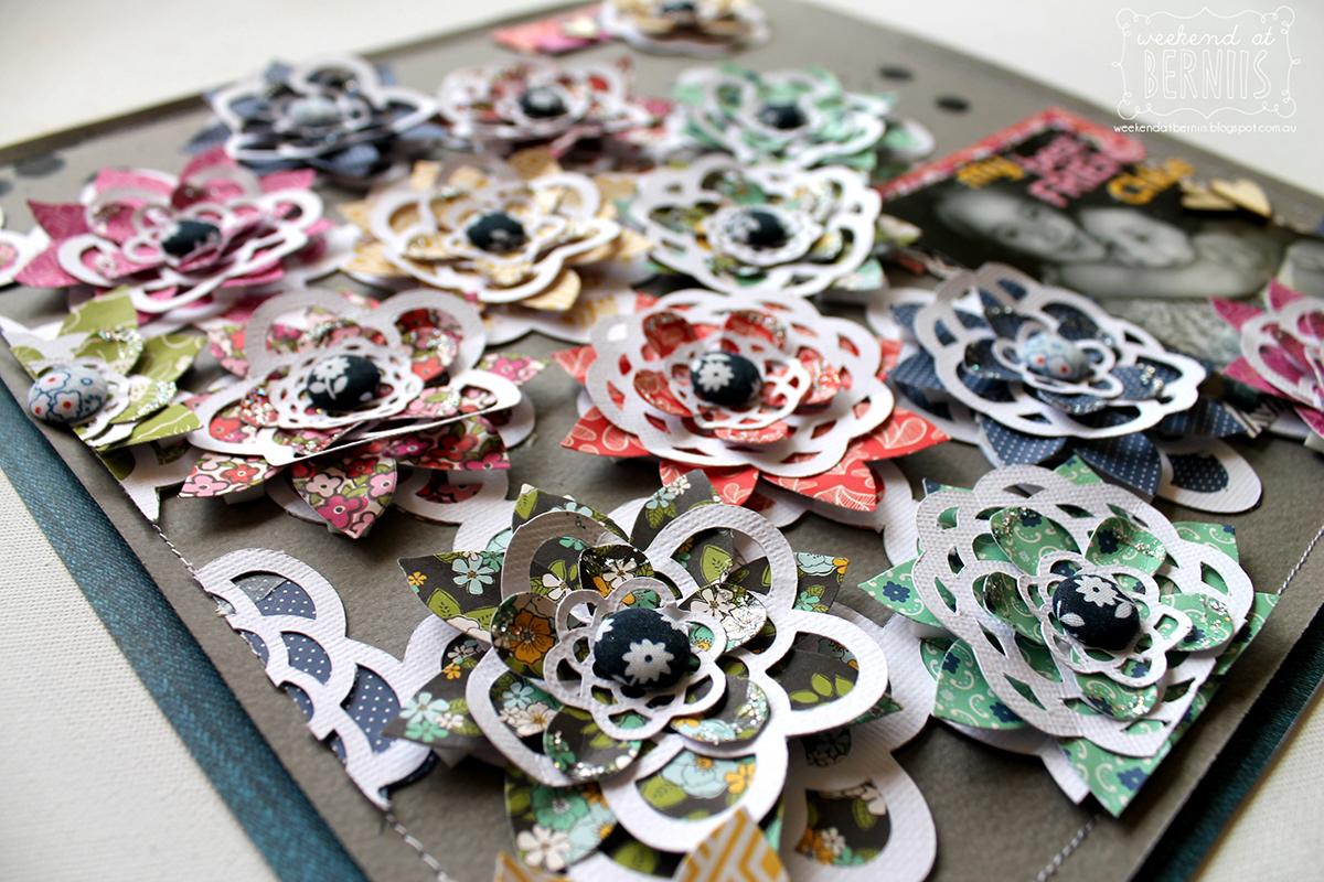 Best Friend Scrapbook Page by Bernii Miller Guest Designer for 17turtles using Lace Flowers Digital Cut File
