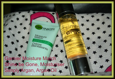 a photo of Garnier Moisture Match Shine be Gone and Simply Argan, Argan Oil
